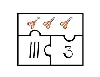 Back to School Counting Puzzles 1-20