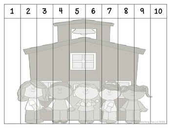Back to School Counting Puzzles 1 to 100 {by 1s, 2s, 5s, 10s}