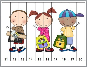 Back to School Number Puzzles - Set 1