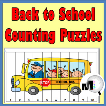 Back to School Counting Puzzles - Set 1 - Numbers 1-120 -B