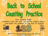 Back to School Counting Sets Independent Practice for Kindergarten