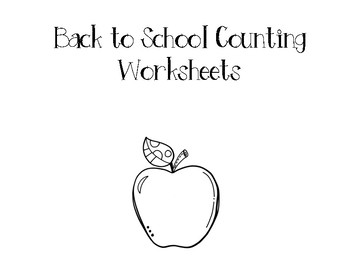 Back to School Counting Worksheets