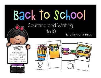 Back to School Counting and Writing