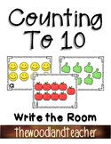 Back to School Counting in 10 Write the Room