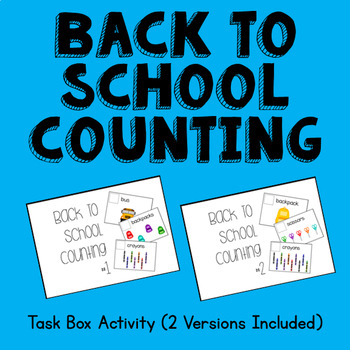 Back to School Counting to 10 Task Box  #btsfresh