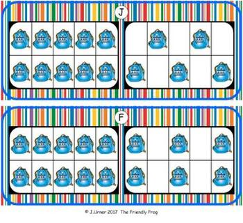 Back to School Counting with 20 Frames {Subitizing}