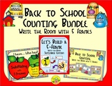 Back to School Counting with 5 Frames Bundle {Subitizing}