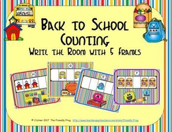 Back to School Counting with 5 Frames {Subitizing}