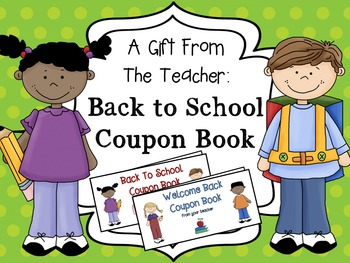 Back to School Coupon Book {A Gift From the Teacher}