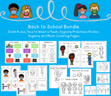 Back to School Covid 19 Resources Bundle - Zoom Rules - Po