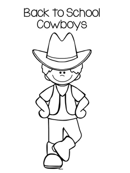 Back to School Cowboy Themed Glyphs