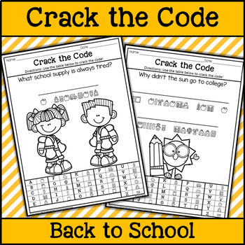 Back to School Crack the Code