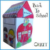 Back to School Craft - School House & Writing Activity