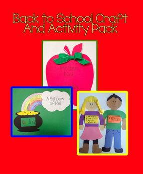 Back to School Craft and Activity Pack