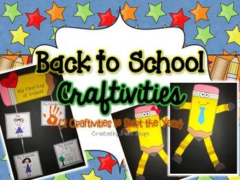 Back to School Craftivities {2 Craftivities to Start the Year}