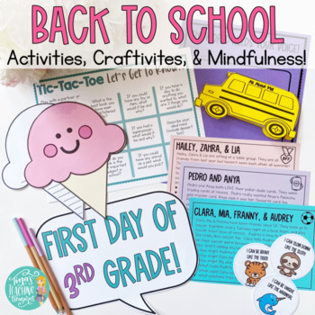 Back to School Craftivities & More: First week with Tina's Teaching Treasures