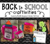 Back to School Craftivities (hats, writing, and certificates)