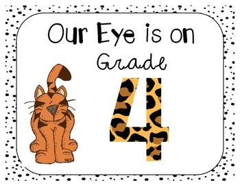 Back to School Craftivity 4th Grade Eye of the Tiger