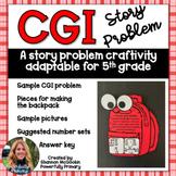 Back to School Craftivity 5th Grade   CGI Story/Word Problem   Multi Step
