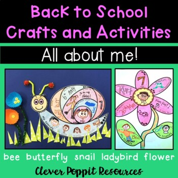 Back to School Crafts and Activities - All About Me!