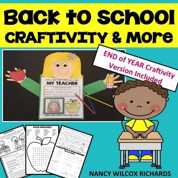 Back to School Craftivity for K-3
