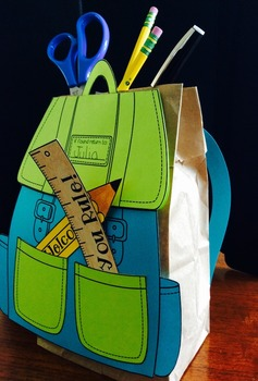 Back to School Craft, Activities and Writing Prompts - Backpack