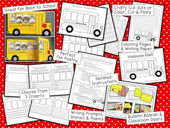 Back to School Craft, Activities and Writing Prompts - School Bus