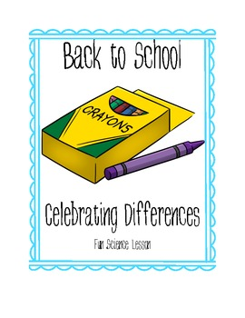 Back to School Crayon Celebrating Differences Getting To Know You Activity