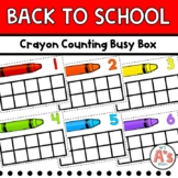 Back-to-School Crayon Counting Busy Box