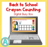 Back to School Crayon Counting Digital Busy Box for Distan