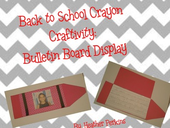 Back to School Crayon Craftivity