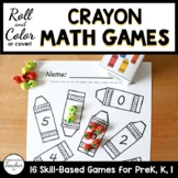 Back to School Crayon Roll and Color Math Activities