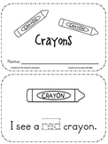 Back to School: Crayons Emergent Reader