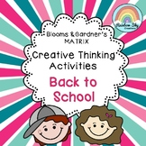 Back to School Creative Thinking Activities