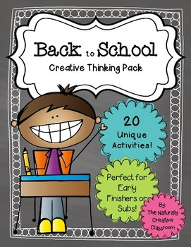 Back to School Activities Pack