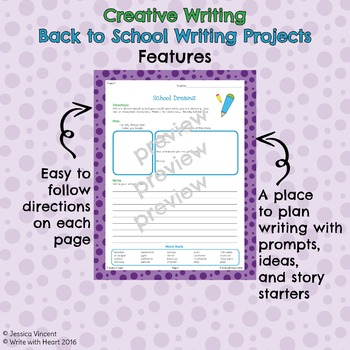 Back to School Creative Writing Projects