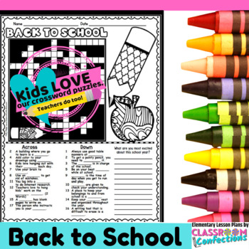image relating to Back to School Crossword Puzzle Printable named Again in direction of Faculty Crossword Puzzle