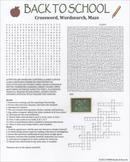 Back to School Crossword Wordsearch Maze