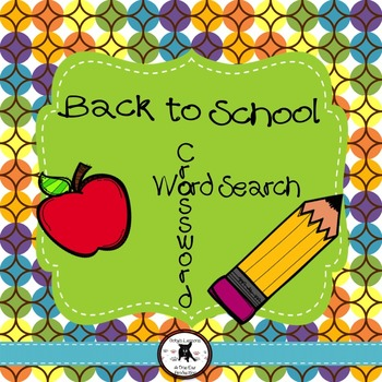 Back to School: Crossword and Word Search