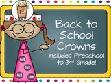 Back to School Crowns FREEBIE!