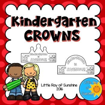Back to School Crowns - Kindergarten