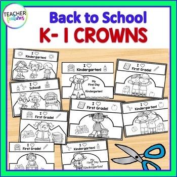 Back to School Crowns for Kindergarten & First Grade
