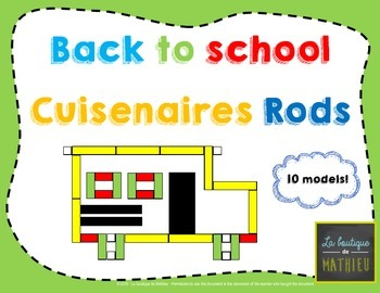 Back to School - Cuisenaires Rods (Math Centers Game)