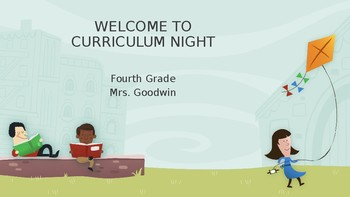 Back to School/Curriculum Night/Open House