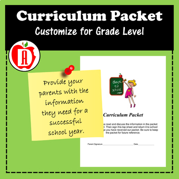 Back to School Curriculum Packet
