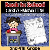 Back to School Cursive Writing No-Prep