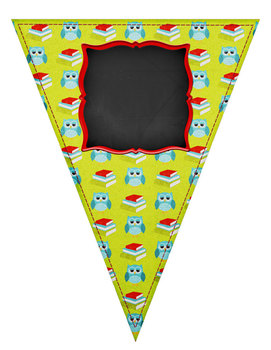 Back to School Customizable Pennant Pack Chalkboards and More