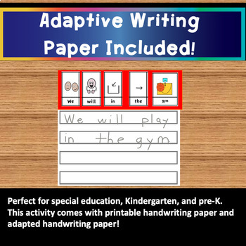 Handwriting: Back to School Cut, Glue and Write Sentence Scrambles