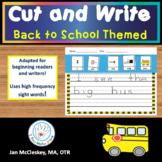 Handwriting: Back to School Cut, Glue and Write Sentence Scrambles
