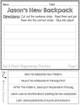 Back to School Sequencing